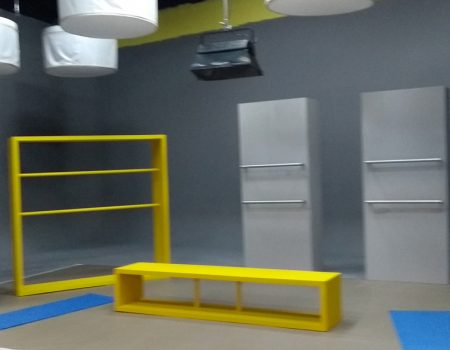 Stand comercial Bancolombia